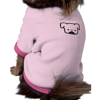 Camiseta del bigote del perro camiseta con mangas para perro