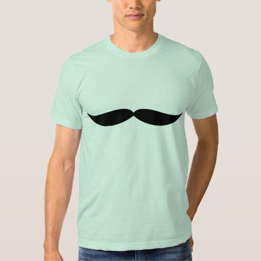 Camiseta del bigote (verde del seafoam) remera