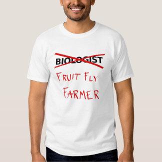 Camiseta del biólogo (granjero de la mosca del poleras