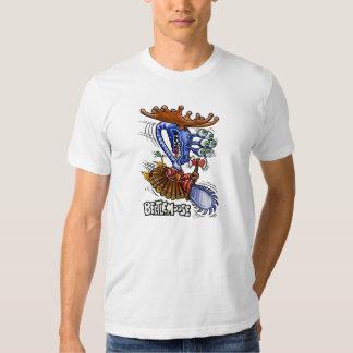 Camiseta del blanco de Beetlemoose Playeras