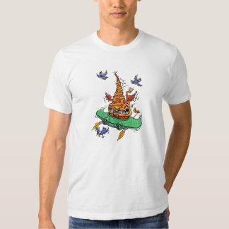 Camiseta del blanco de Beulah del vuelo Playera