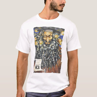 Camiseta del blanco de Blackbeard