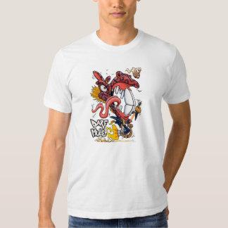 Camiseta del blanco de la mula de Darf Playera