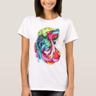 Camiseta del blanco de la selva