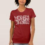Camiseta del blanco de las Felices Navidad