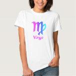 Camiseta del blanco de las señoras del virgo playeras