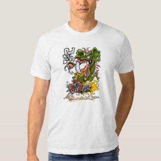 Camiseta del blanco de Podzilla Playeras