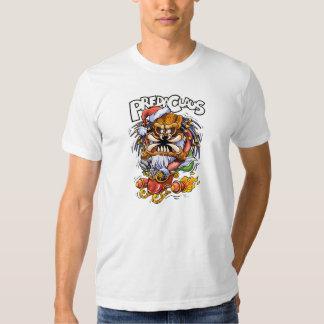Camiseta del blanco de PredaClaus Playeras