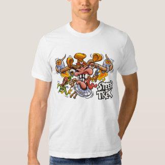 Camiseta del blanco de SteerTrek Playeras