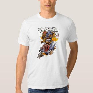 Camiseta del blanco de Verminator Playera
