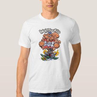 Camiseta del blanco de Wartyworld Playeras