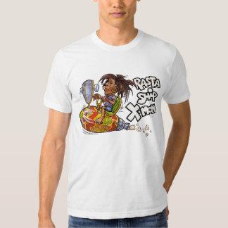 Camiseta del blanco de X-Lunes de la nave de Rasta Playeras