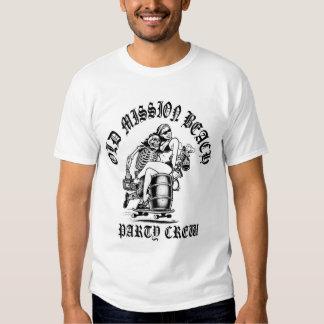 Camiseta del blanco del equipo del fiesta del MB