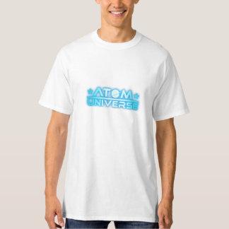 Camiseta del blanco del universo del átomo