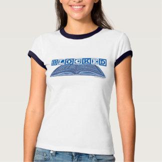 Camiseta del bloque del escritor