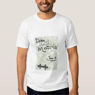 Camiseta del boda de Dan y de Matilda Poleras