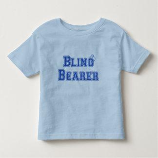 Camiseta del boda del portador de Bling Remera