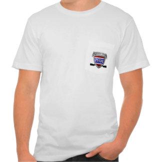 Camiseta del bolsillo de American Apparel de los h