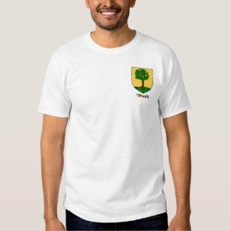 Camiseta del bolsillo del escudo de la familia de remera