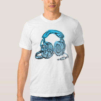 Camiseta del bosquejo de los auriculares de Andy Poleras