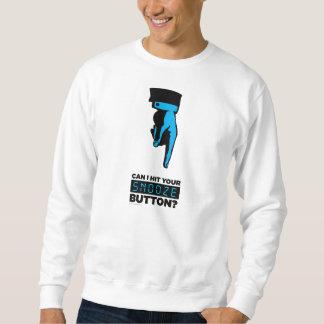 Camiseta del botón de la cabezada suéter