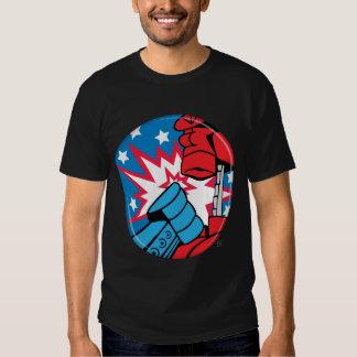 Camiseta del botón de la campaña de Rockem Sockem Camisas