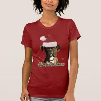 Camiseta del boxeador del navidad