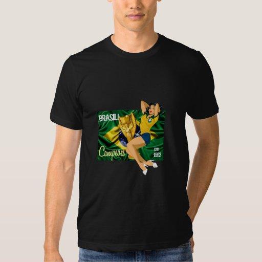 Camiseta del BRASIL de la TARJETA DEL DÍA DE SAN Remeras