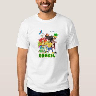 Camiseta del Brasil, linda Playera
