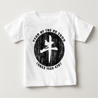 Camiseta del buey del año lunar 4707 playeras