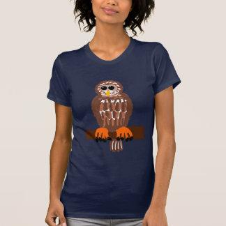 Camiseta del búho barrado playera