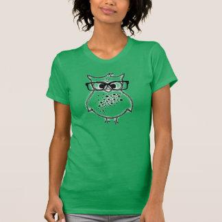 Camiseta del búho del inconformista playeras