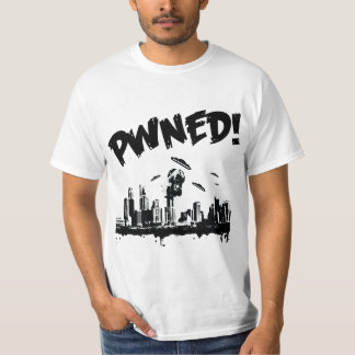 Camiseta del bw del pwn del UFO