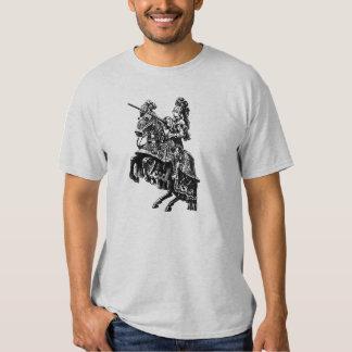 Camiseta del caballero del vintage playera