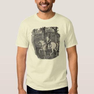 Camiseta del caballero del vintage playeras