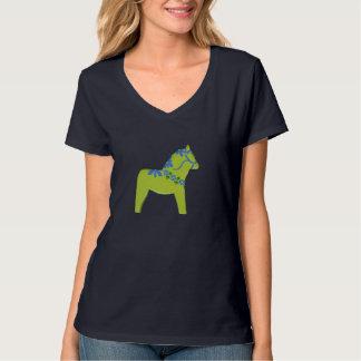 Camiseta del caballo de Dala del flower power Playeras