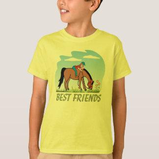 Camiseta del caballo de los mejores amigos camisas