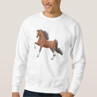 Camiseta del caballo de Saddlebred de la bahía
