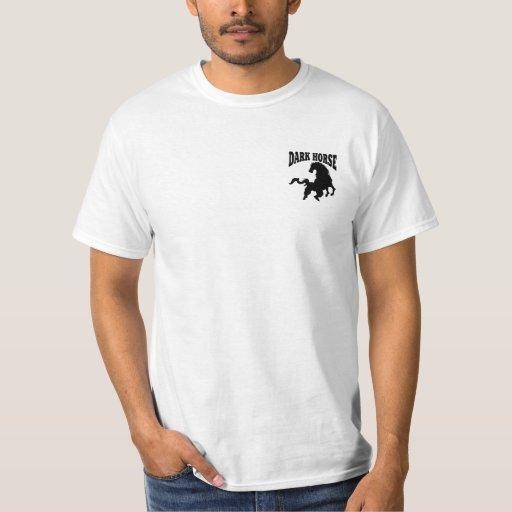 Camiseta del caballo oscuro playera