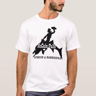 Camiseta del caballo salvaje del Barracuda de