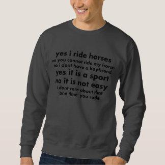 Camiseta del caballo sudadera con capucha