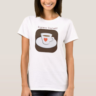 Camiseta del café express usted mismo