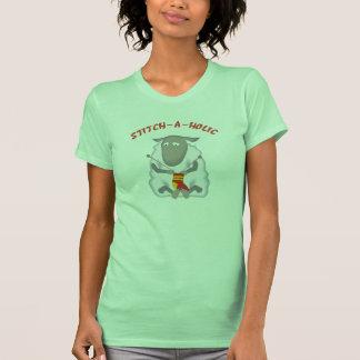 Camiseta del calcetero de la Puntada-uno-holic