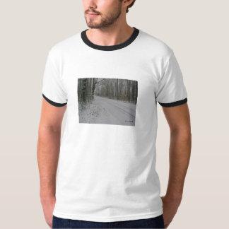 Camiseta del camino de la nieve playeras