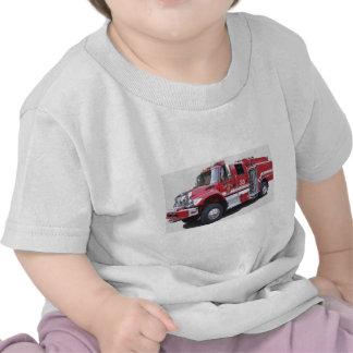 Camiseta del camión del cepillo del niño