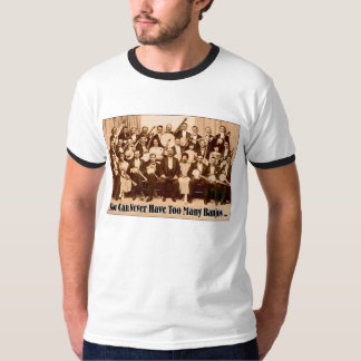 Camiseta del campanero de demasiados hombres de polera