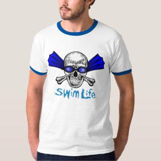 Camiseta del campanero de la vida de la nadada poleras