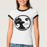 Camiseta del campanero de las mujeres de los gatos playera