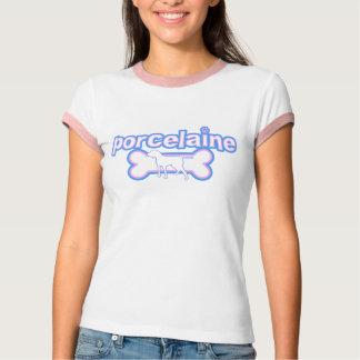 Camiseta del campanero de las mujeres rosadas y