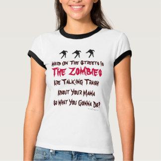 Camiseta del campanero de los zombis de la basura